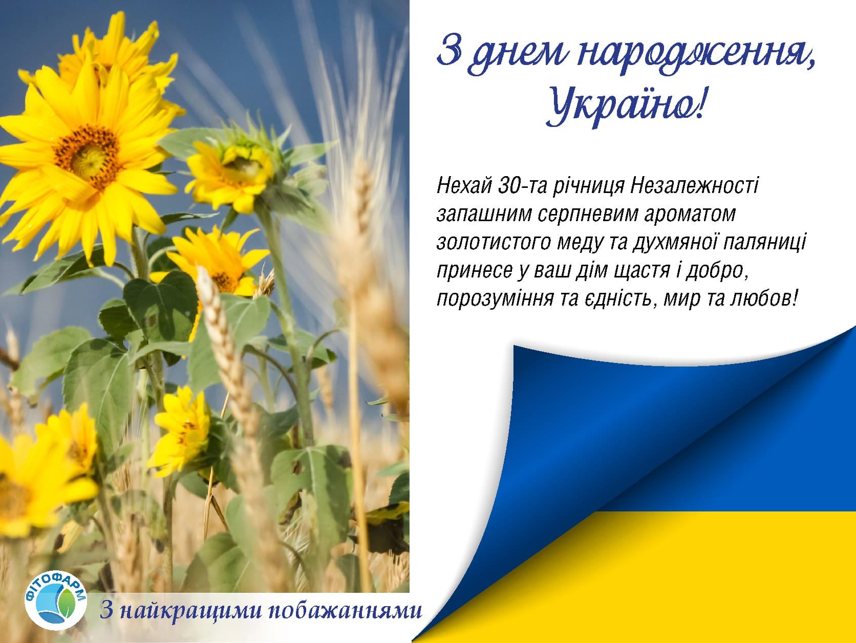 З днем народження, Україно